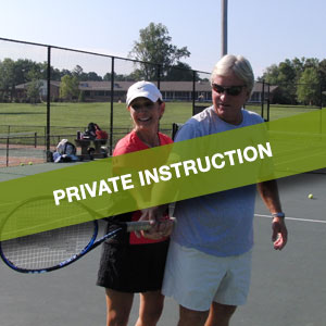 Private Tennis Instruction at Bur-Mil Park, Guilford College and Friendly Park Tennis